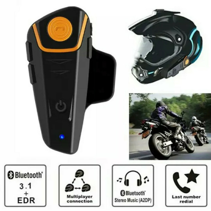 harga Bt intercom headset - bt s2 headset bluetooth di helm motor Tokopedia.com