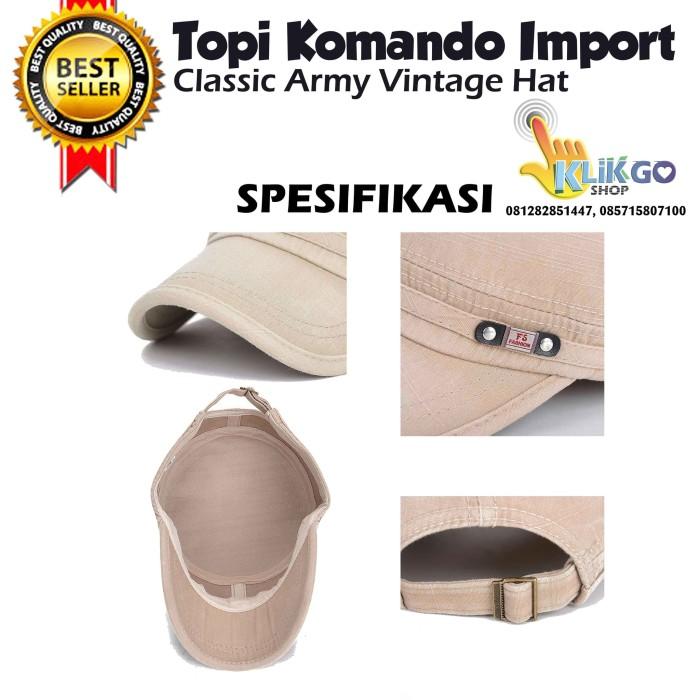 TOPI KOMANDO IMPORT CLASSIC ARMY / TOPI SNAPBACK / TOPI ARMY