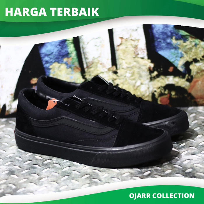 Jual Sepatu Sekolah Vans Old Skool School Full Black Hitam Pria Cowo ... 637965c17b