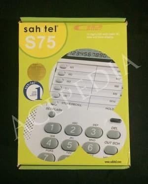 harga Telepon kabel lcd caller id sahitel s75 telpon rumah / telepon kantor Tokopedia.com
