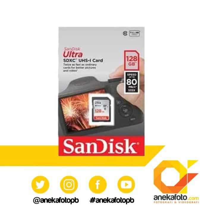harga Sandisk sdxc ultra 128 gb / 80 mb grey Tokopedia.com