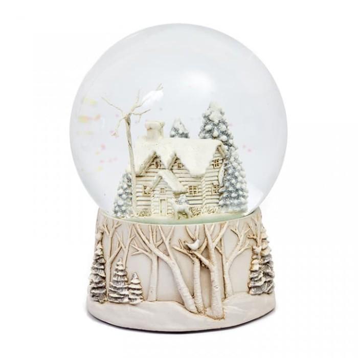 Pajangan natal bola air snowglobe lampu rumah lux - dekorasi natal