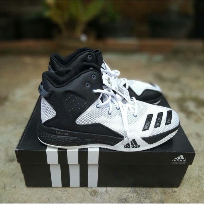 2d58c92131f Sepatu Basket Sneakers Adidas DT BBall Mid White Black ORIGINAL BNIB - Putih