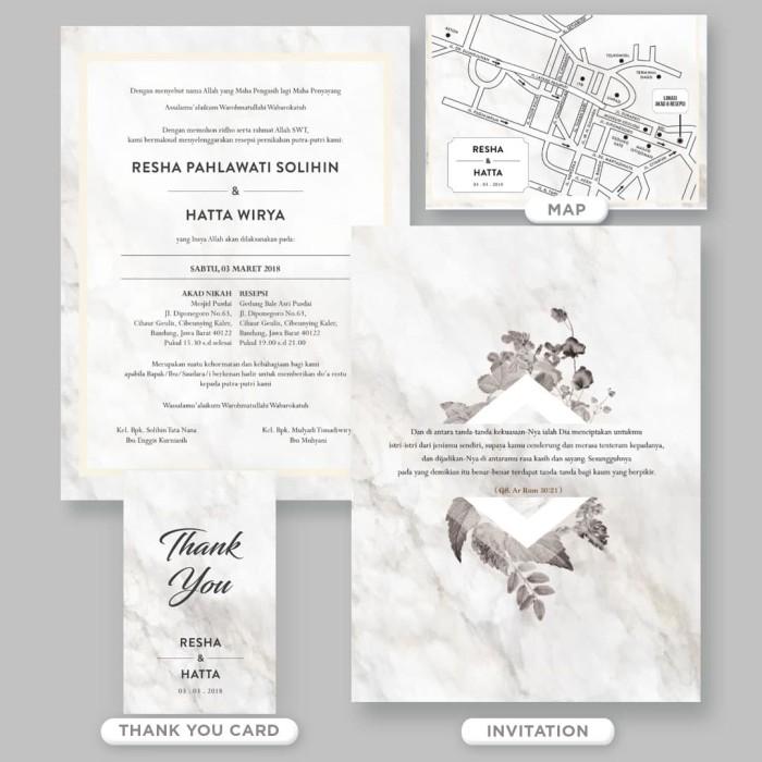 harga Undangan pernikahan grayscale botanical Tokopedia.com