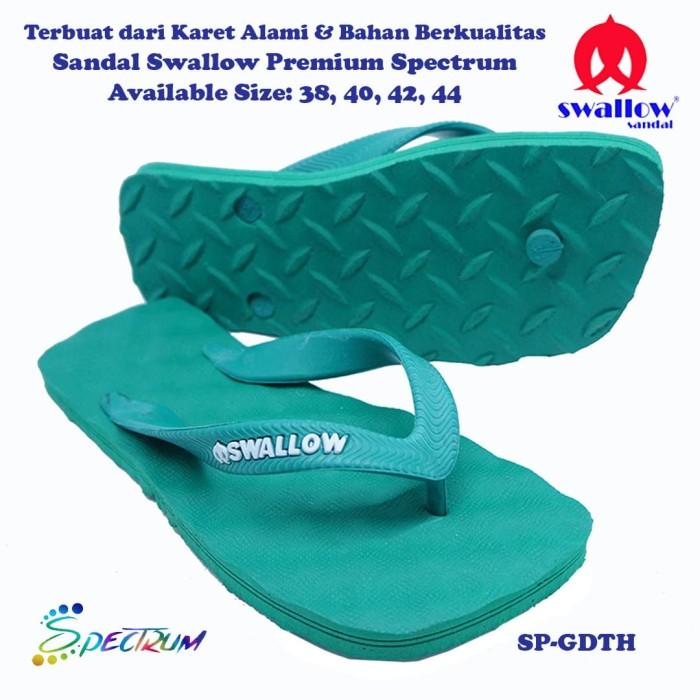 Sandal Swallow Premium Spectrum Pria GreenDark- Tali Hijau - Hijau, 44