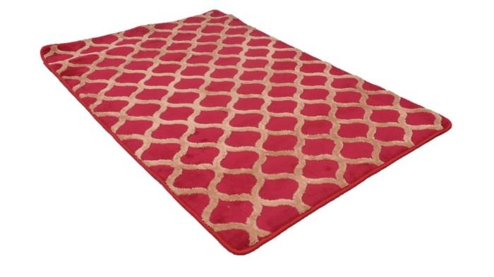 Karpet Rumah Flaffy Ukuran 090 x 140 Merah