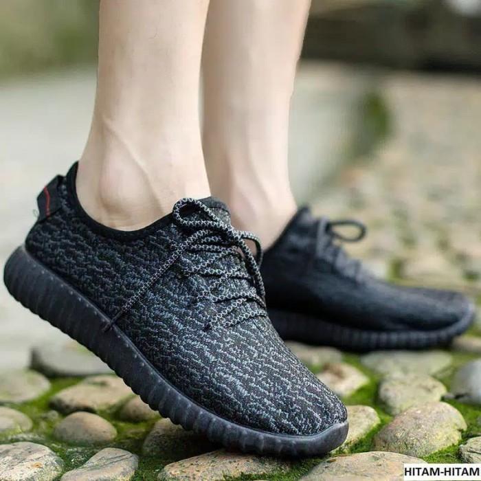 86c53c6727c Jual import sepatu yeezy korea hitam - Hitam