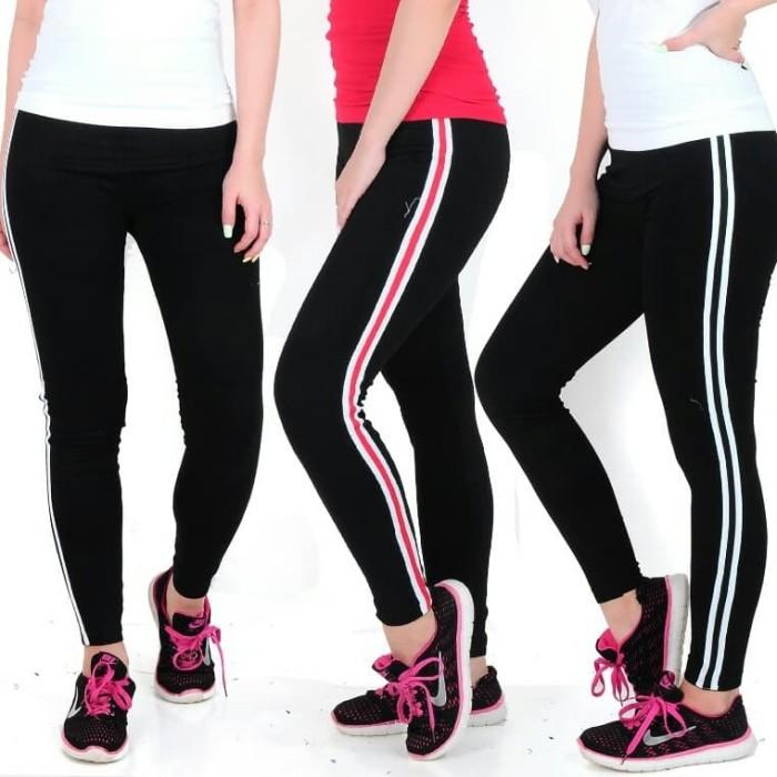 Jual Celana Legging Senam Garis Merah Jakarta Barat Hen Rey Shop Tokopedia