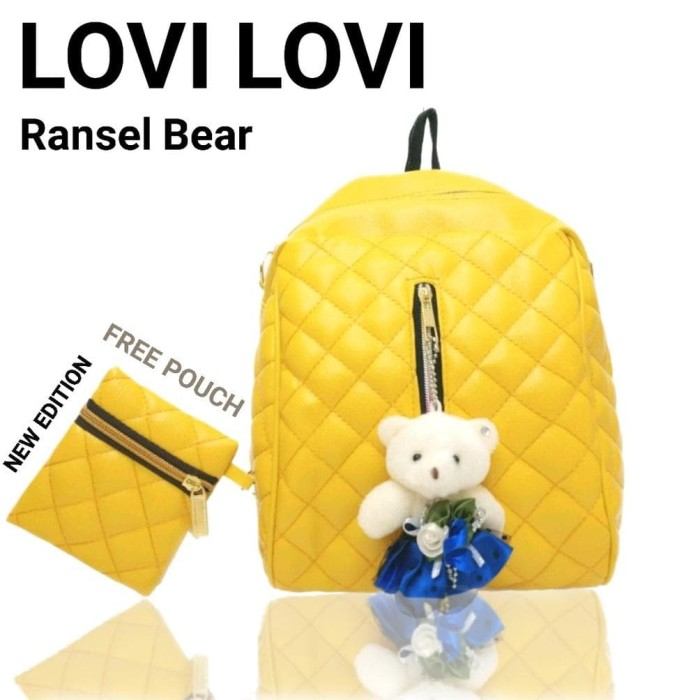Termurah Tas LOVI LOVI RANSEL BEAR Bonus DOMPET fashion backpack