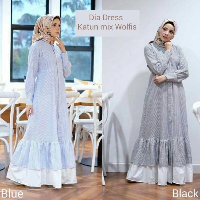 Jual Dia Dress - Trend Fashion Muslim 2018 - Fashion Laris 1  3b724aea09