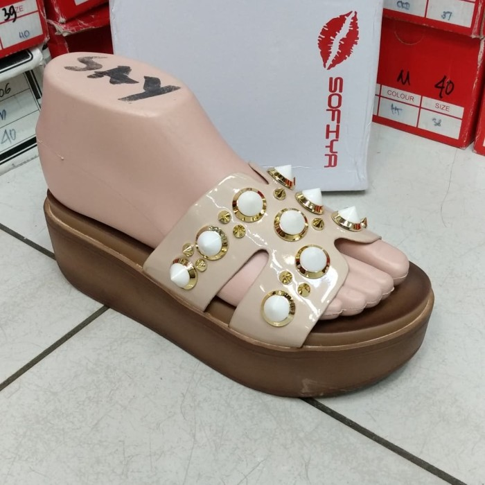 Jual Sofia sandal import wanita 2022 7 cewek sepatu wedges flat ... f12a1e034d