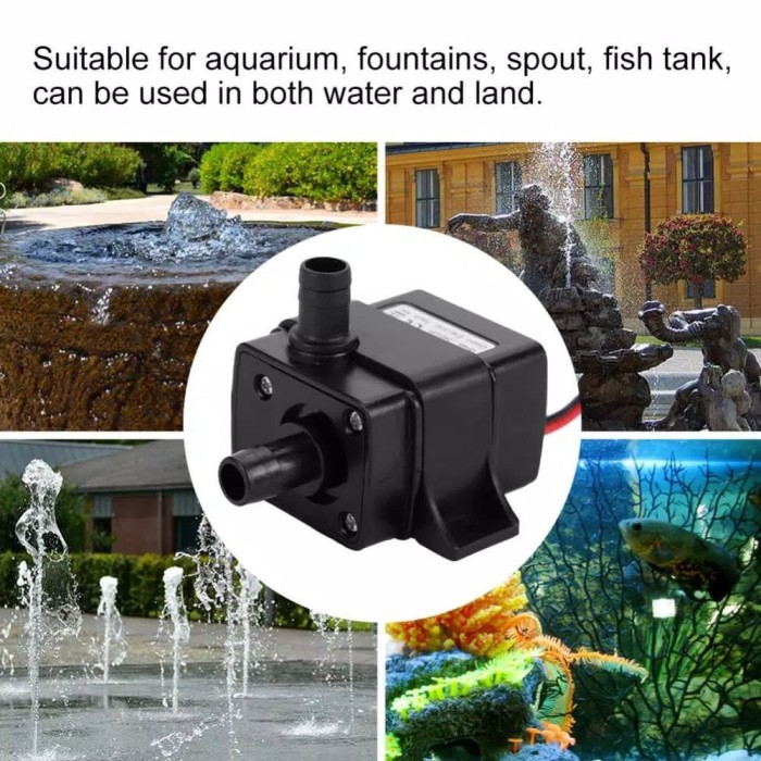 Foto Produk pompa celup mini submersible water pump DC 12V 240HL dari GG outlet