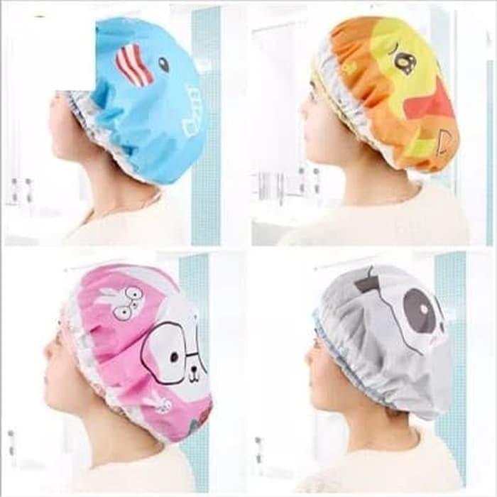 Waterproof Elastic Band Lace Bow Hat Hair Bath Shower Cap. Source ·