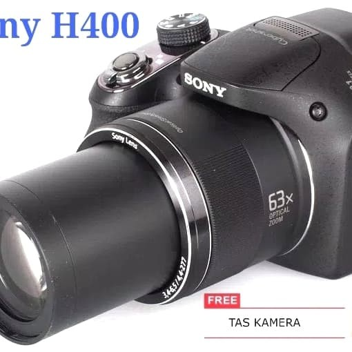 Kamera dsc-sony h400/camera semipro/prosummer 63x optical zoom20.1mp