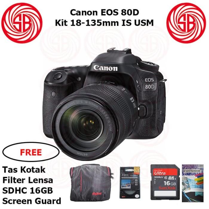 harga Kamera canon eos 80d + 18-135mm ; camera 80 d kit ; 24mp crop sensor Tokopedia.com
