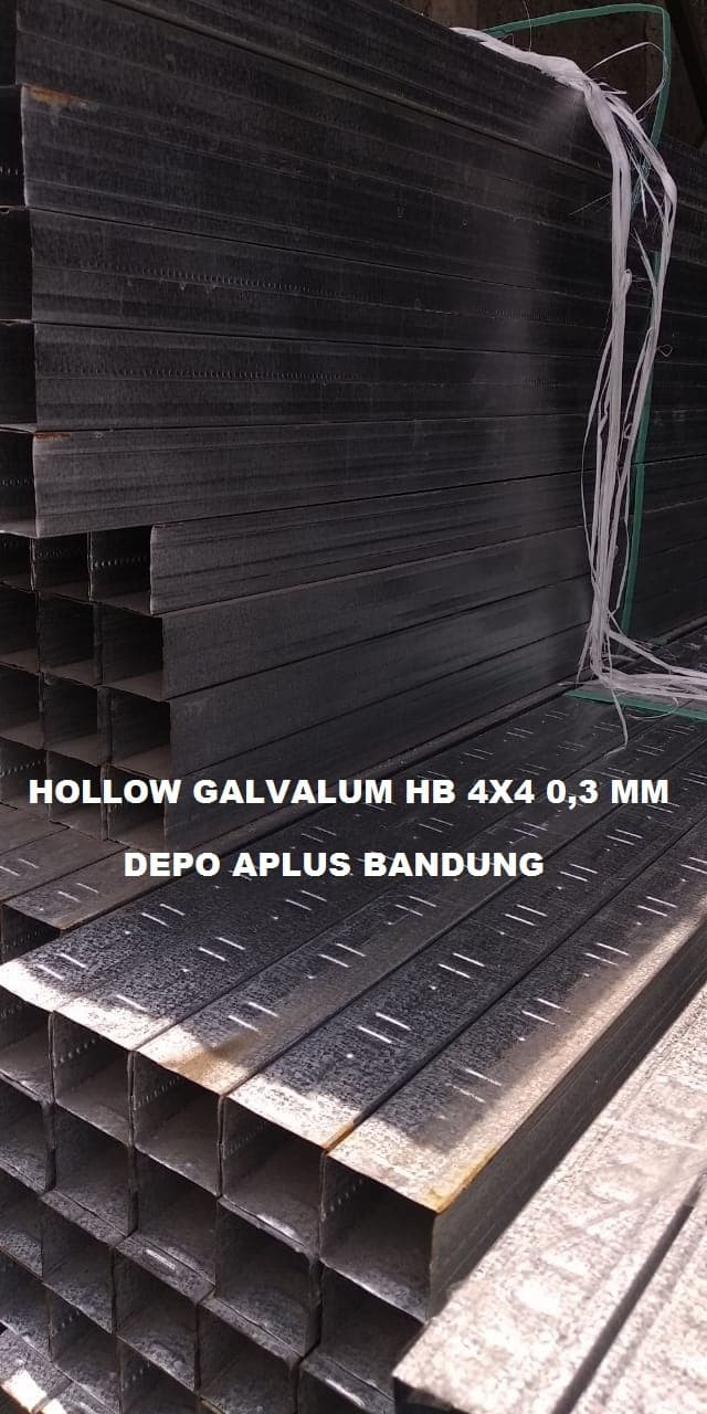 Jual Hollow Galvalum HB 4x4 0 3 Rangka Plafon Gypsum Bandung Kota Bandung Depo Aplus Bandung