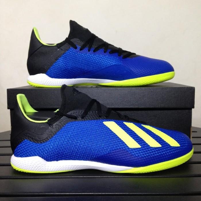 quite nice a6f37 ca0e7 SALE Sepatu Futsal Adidas X Tango 18.3 IN Blue Solar Yellow DB1954