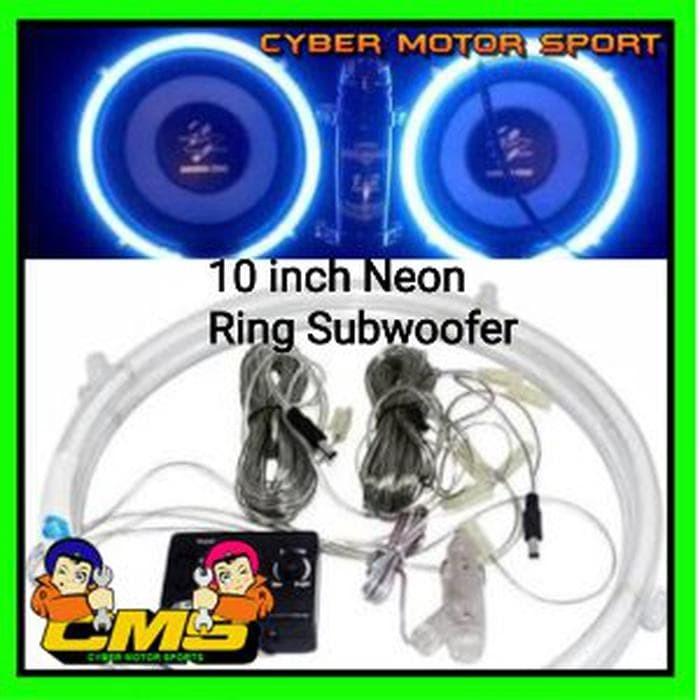 Lampu musik Ring Subwoofer dengan sensor suara. Ring subwoofer neon