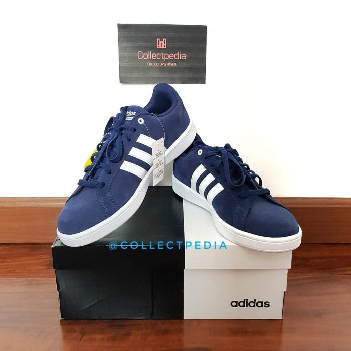 more photos e85df 407a5 Sepatu Original Adidas Neo Cloudfoam Advantage Suede Blue