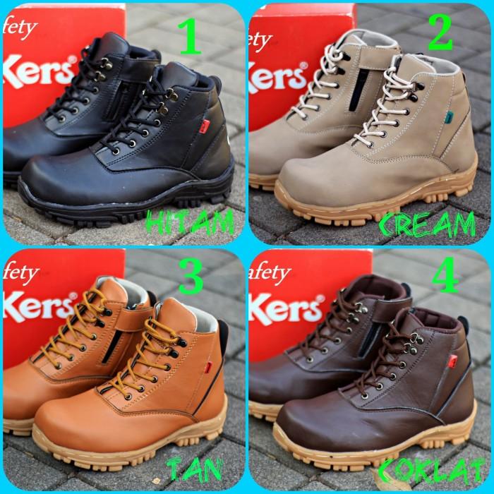 Jual Sepatu Boots Pria Kickers Safety Ujung Besi Retsleting + tali ... 93610d33ff