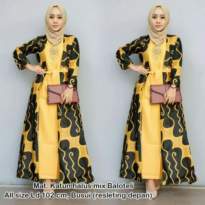 81 Foto Baju Batik Modern Wanita Muslim Terlihat Keren