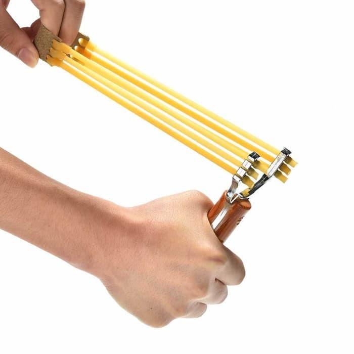 Ketapel Berburu Slingshot Catapult Handheld Aluminum Jingpindangong