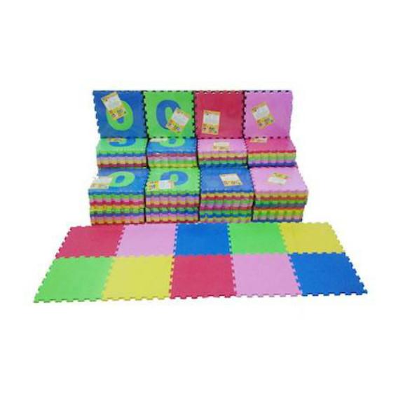 Ari Jaya Karpet Puzzle Polos - Multicolor [1 Dus/ 10 pcs]