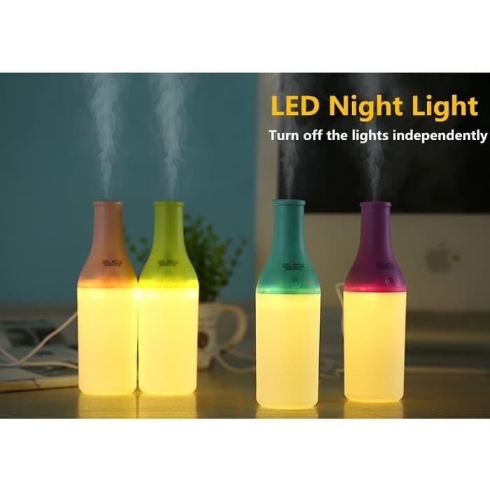 Foto Produk BOTOL AJAIB Pelembab Ruangan Aroma Terapi / Lampu Tidur Humidifier dari syahastore