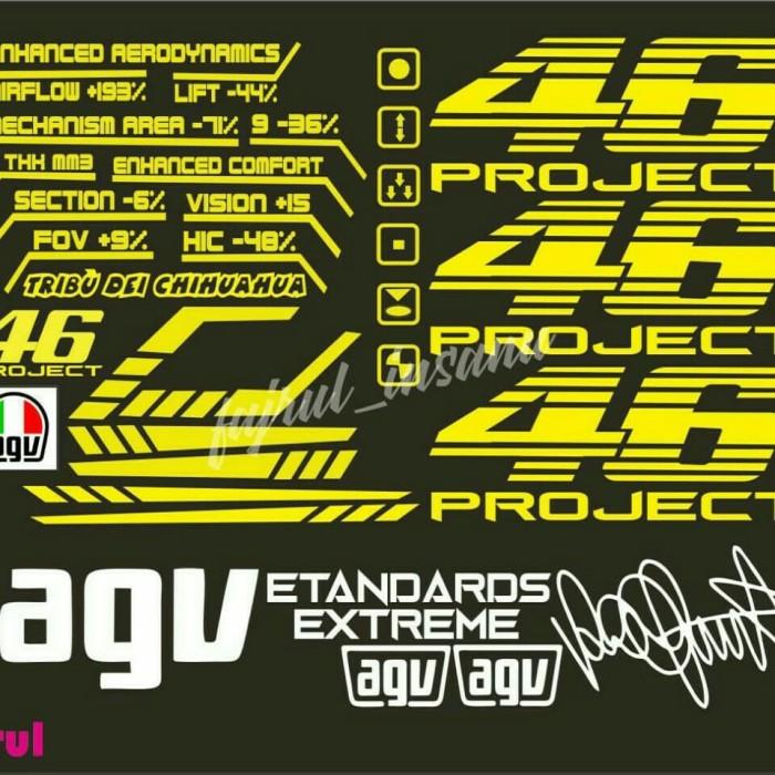 Jual Stiker Atau Decal Agv 46 Project Murah Kab Banyumas Fajrul Insanu Tokopedia