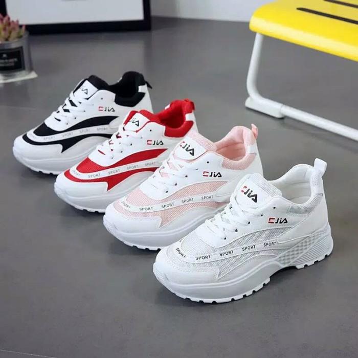 Sepatu Fila Sneakers Wanita/anak Abg Style Casual Import