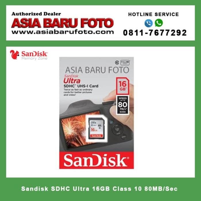harga Sandisk sdhc ultra 16gb class 10  80mb/sec Tokopedia.com