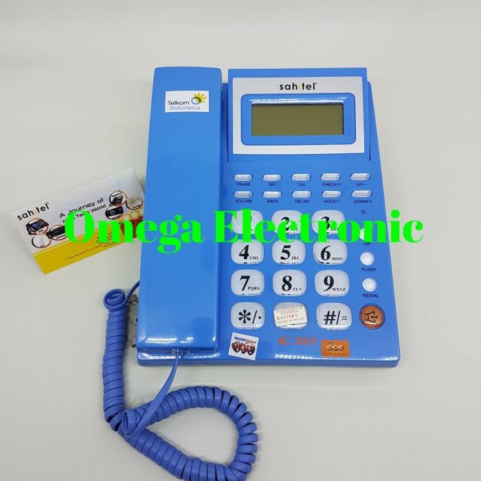 harga Resmi telepon sahitel s57 - pesawat telepon kantor rumah merah biru Tokopedia.com
