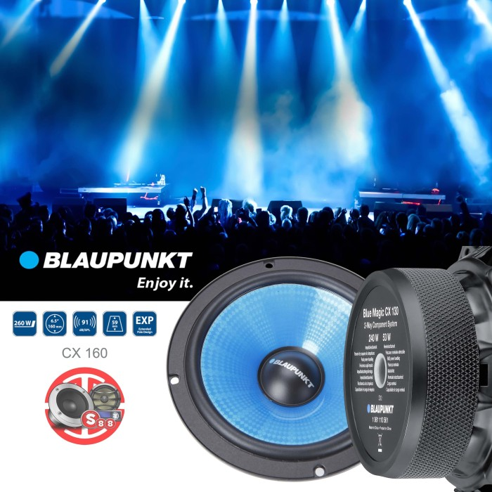 Blaupunkt Blue Magic CX 160-6 inch 260 Watt Component Speaker System