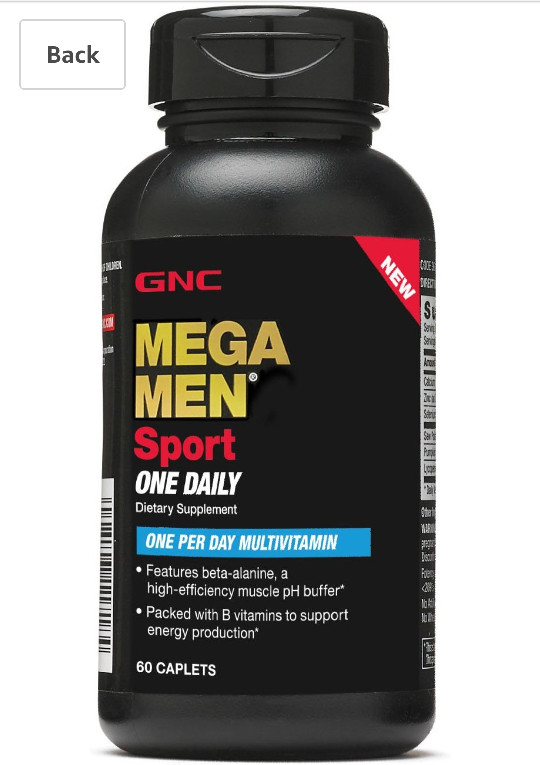 ... Oils 1000 Suplemen Kesehatan [180 kapsul]. 603.241 · GNC Mega Men Sport One Daily- 60 caplets