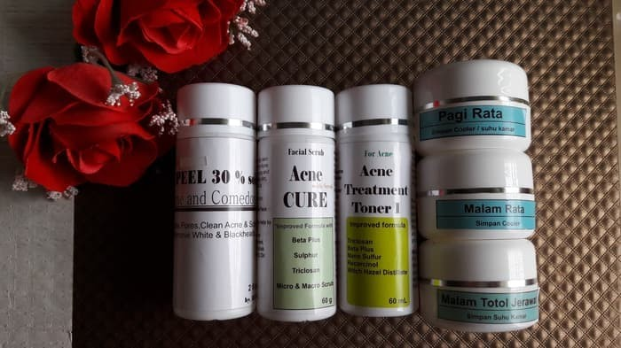 bebas bekas jerawat Paket Cream Jerawat Cream Acne Lv 1 Peeling Acne
