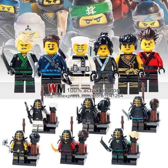 Jual Lego Ninja Training Suit Minifigure Ninjago 1 Set 6 Karakter