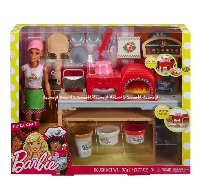 Jual Barbie Pizza Chef Dough Net Mainan Playdoh Barbie Pizza Chef Doll Jakarta Barat Dz World Tokopedia