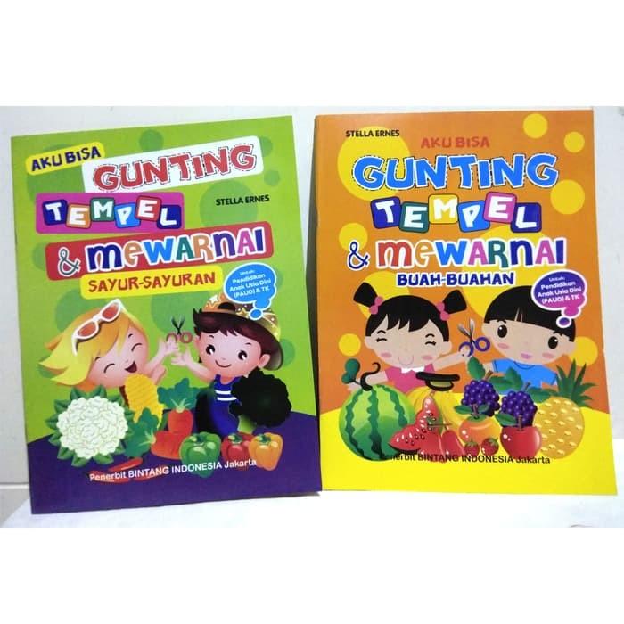 Jual Best Seller Buku Aktifitas Gunting Tempel Mewarnai Anak Buku