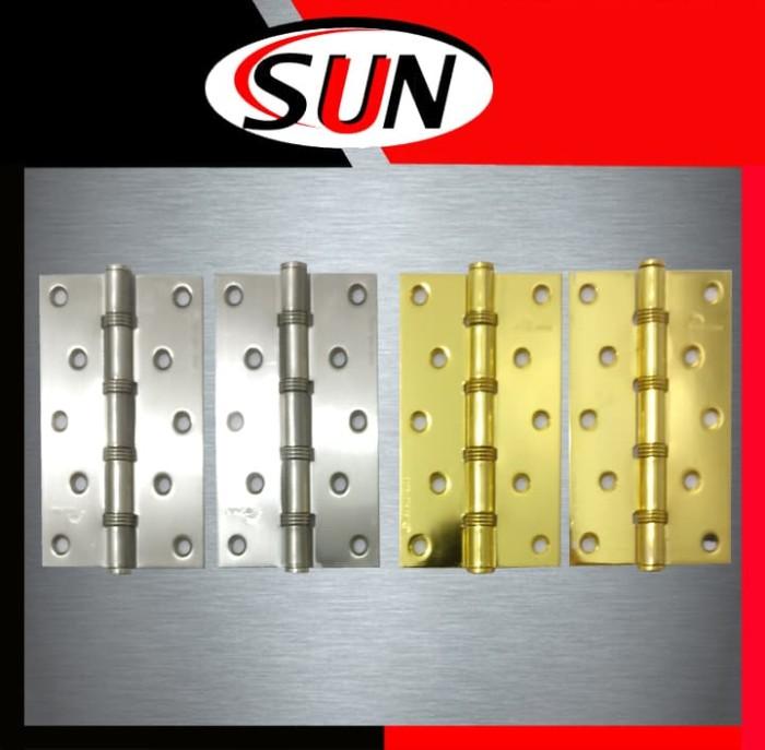 harga Engsel pintu rumah jendela 5   inch putih kuning emas chrome stainless Tokopedia.com