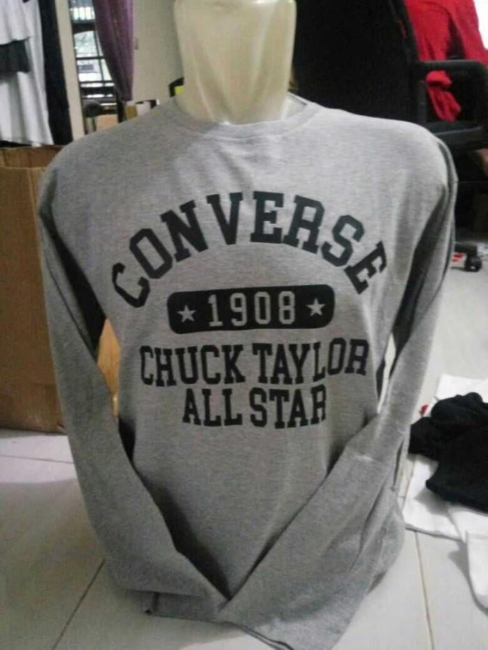 Tshirt Long Slevee-Kaos Lengan Panjang CONVERSE 1908 Keren