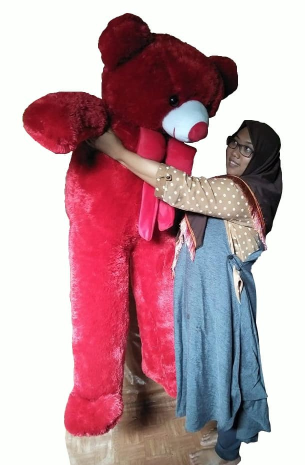 Jual Boneka Teddy Bear 150 Cm Merah Lucu Besar Kab Bandung Barat Gudang Boneka Bandung Tokopedia