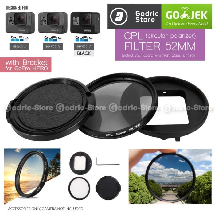 harga Gopro hero 7 black cpl (circular polarizer) filter 52mm with adapter Tokopedia.com