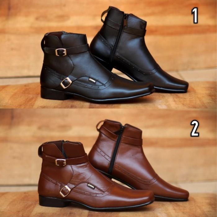 Jual Sepatu jungle jenggle pria bahan kulit asli original Cevany ... 99275fb212