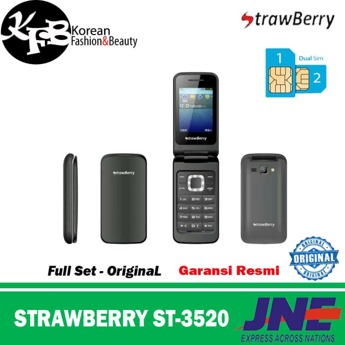 Hp Murah STRAWBERRY ST-3520 Flip - Original - Garansi