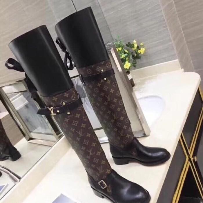 0aae20ca1f5f Jual jual sepatu kulit import lv louis vuitton tall boots kw mirror ...