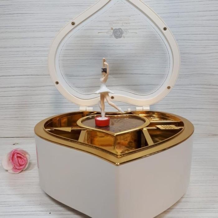 Kotak Perhiasan Love Ballerina / Kotak Musik / Music Box