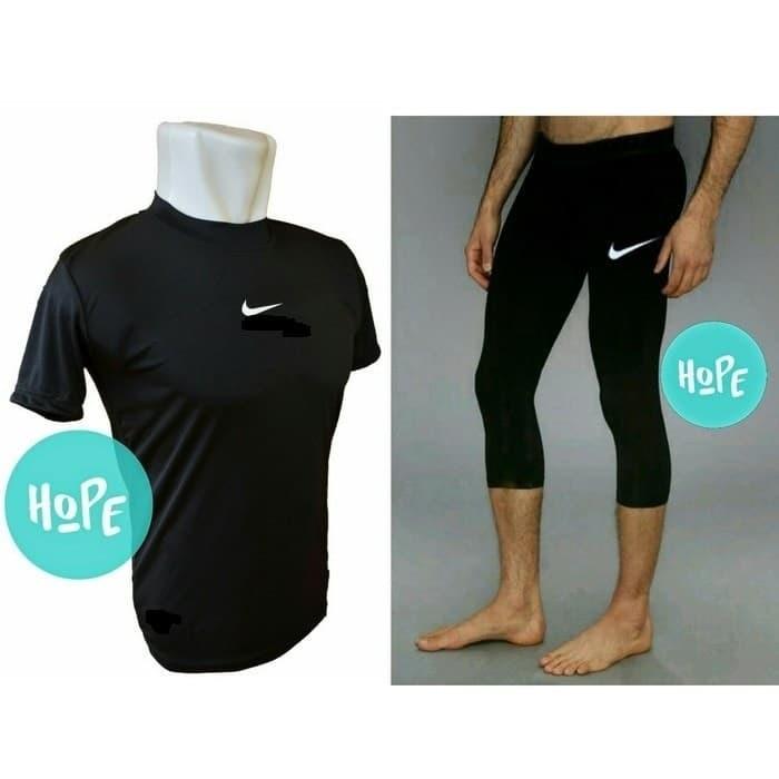 Jual Stelan Baselayer Pendek Dan Celana Baselayer Legging 3 4 Nike Futsal Kota Bandung Fr Olshop Sport Tokopedia