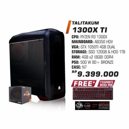 harga Promo pc da talitakum 1300x ti Tokopedia.com