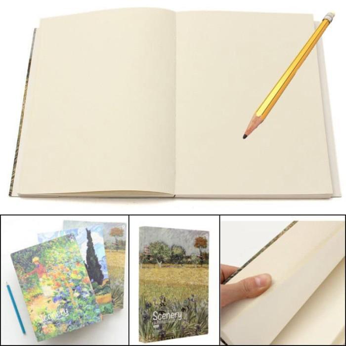 Jual Buku Gambar Sketsa Pemandangan Retro Kota Administrasi