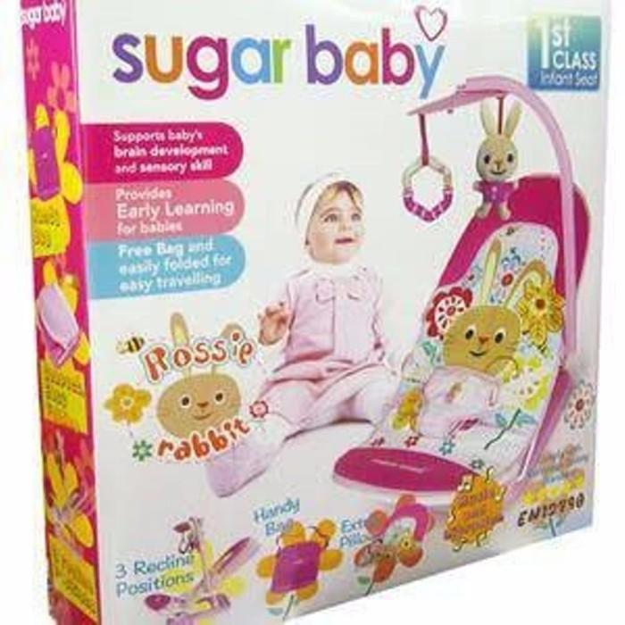 ... SUGAR BABY INFANT SEAT BABY BOUNCER ROSSIE RABBIT I LOVE BEAR